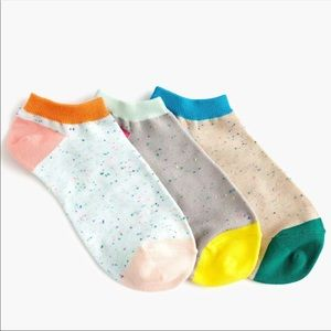 NWT J. Crew Ankle Color block socks 3-pack Donegel